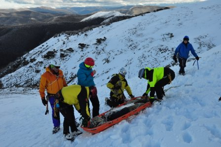 BSAR steep snow and ice training
