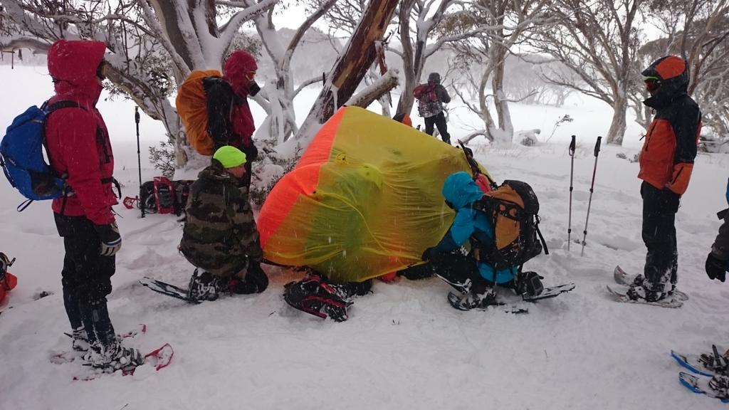 Using Bothy during BSAR alpine training