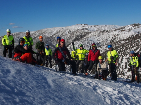 2014 BSAR Steep Snow and Ice training on the Razorback