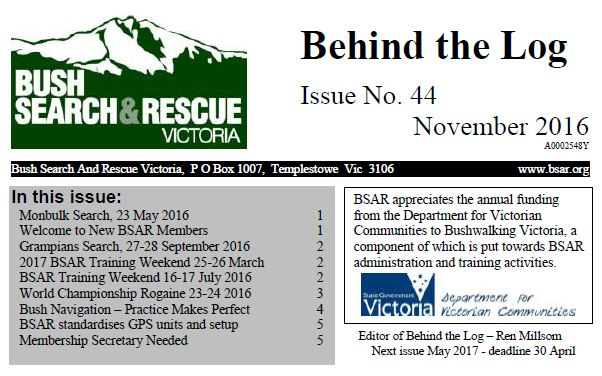 Behind The Log November 2016