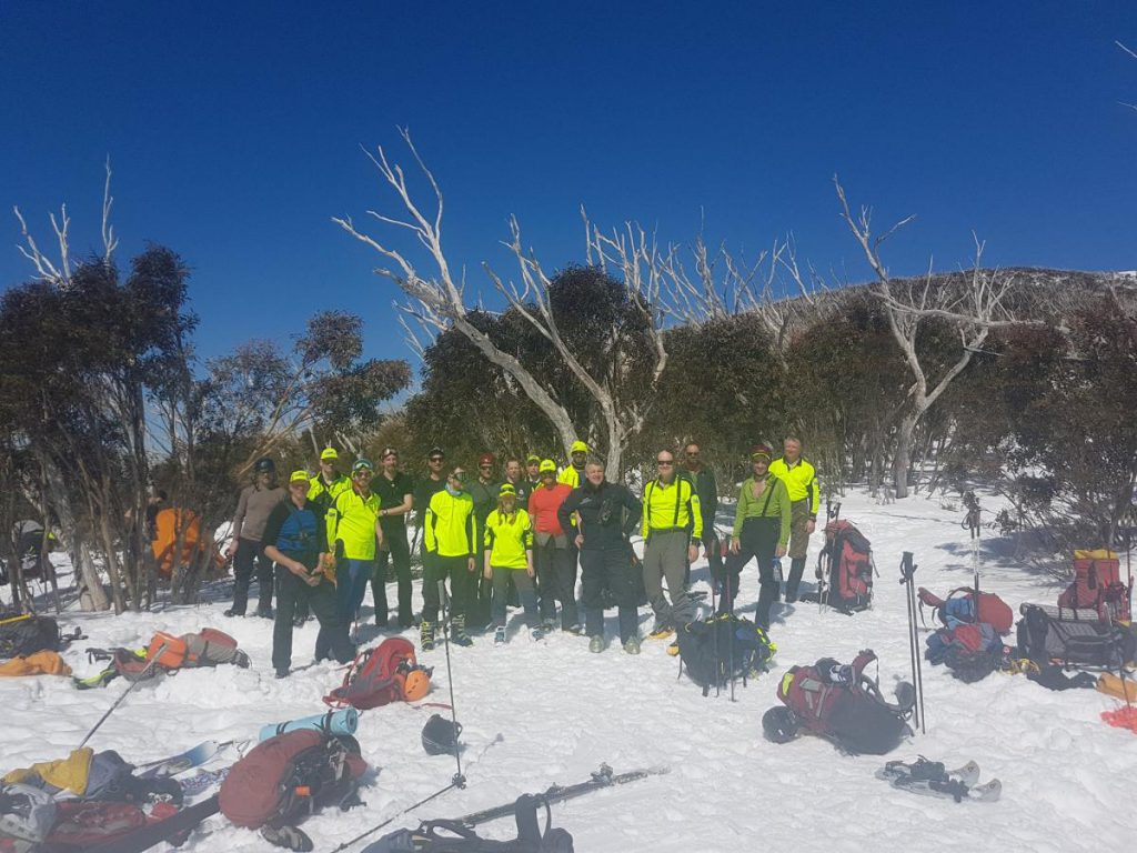 Four BSAR teams and Police SAR at Michell Hut
