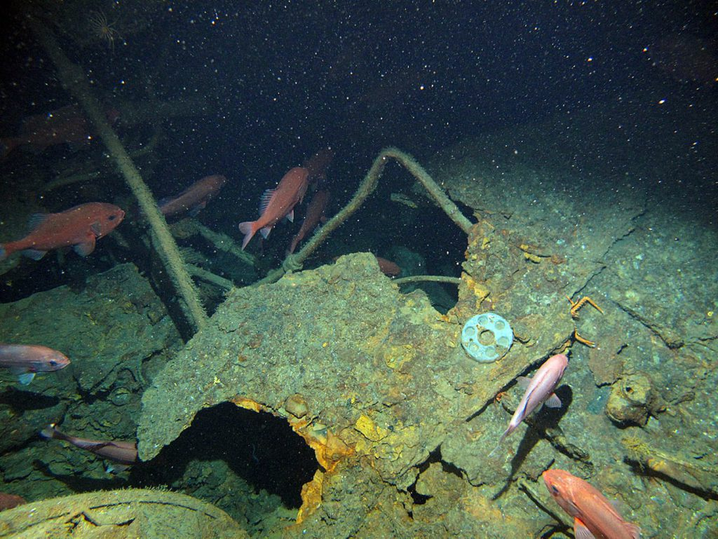 Casing of HMAS AE1 submarine wreck