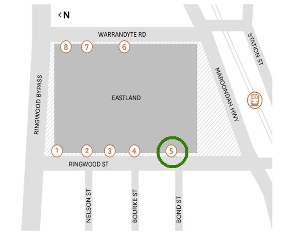 Eastland map
