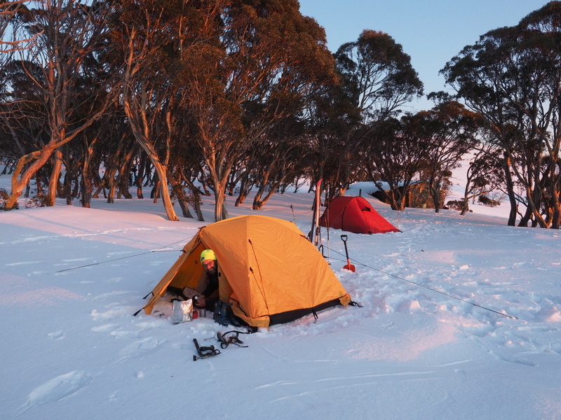 2017 Bogong search - camping at Cleve Cole hut